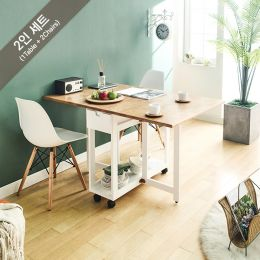 Penny-White-2 Folding Dining Set (1 Table + 2 Chairs)