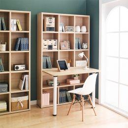 Pascal-Maple-S  Desk w/ Bookcase  (23t Top)