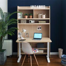 Newton-30-Maple Desk w/ Bookcase  (23t Top)
