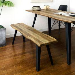 BC-1417-BH Wooden Slab Bench