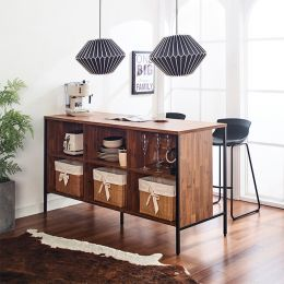 Gordon-Acacia-Blk Island Table