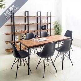 iK-16B-Aca-Liva-6 Dining Set(1 Table + 6 Chairs)