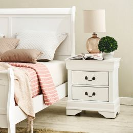 Louis-White Nightstand