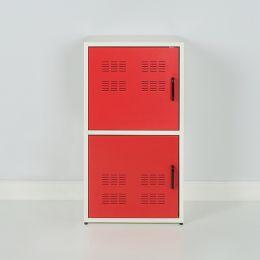 M5-Red Metal Door Cabinet